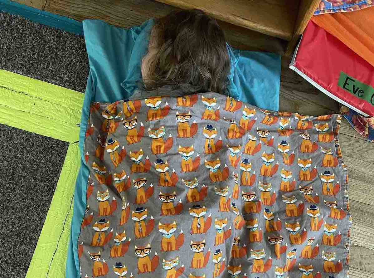Homemade Nap Mats Are Included In Tuition